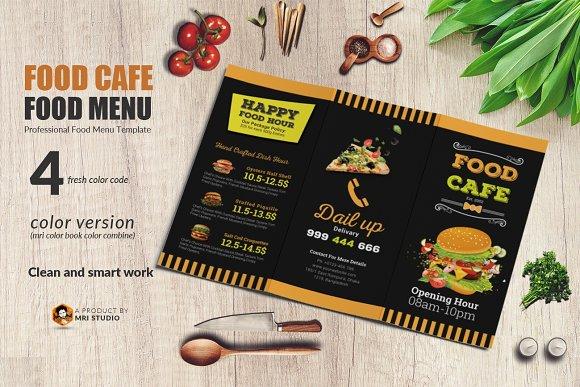 Food Menu Trifold-Graphicriver中文最全的素材分享平台