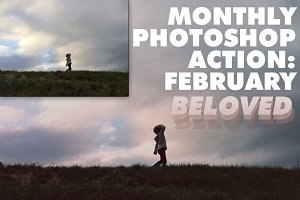 Monthly Photoshop Action: February