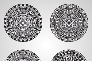 Vector Mandala Set