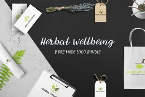 Herbal Wellbeing Logo Bundle