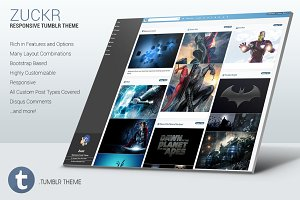 Zuckr - Responsive Tumblr Theme