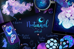 NOCTURNAL. Magic Vector Set.