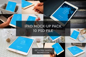 iPad Mock-up 10 PSD Pack