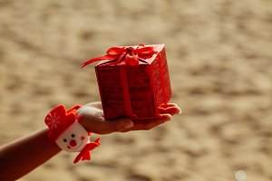 new year present gift in red box