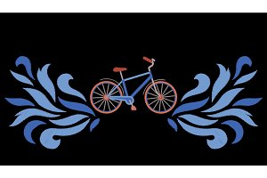 Bike Embroidery Pattern