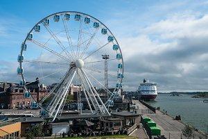 Helsinki Skywheel by the waterside