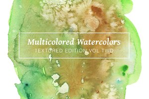 Multicolored Textured Watercolors