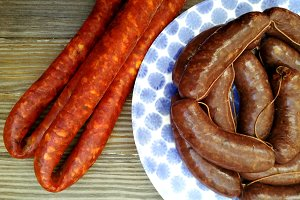 Spanish sausage with paprika