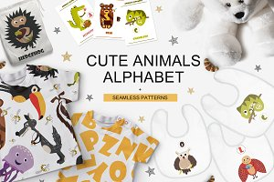 Cute animals alphabet