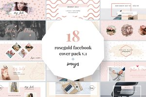 Rosegold Facebook Cover Pack
