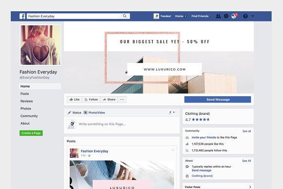 Rosegold Facebook Cover Pack
