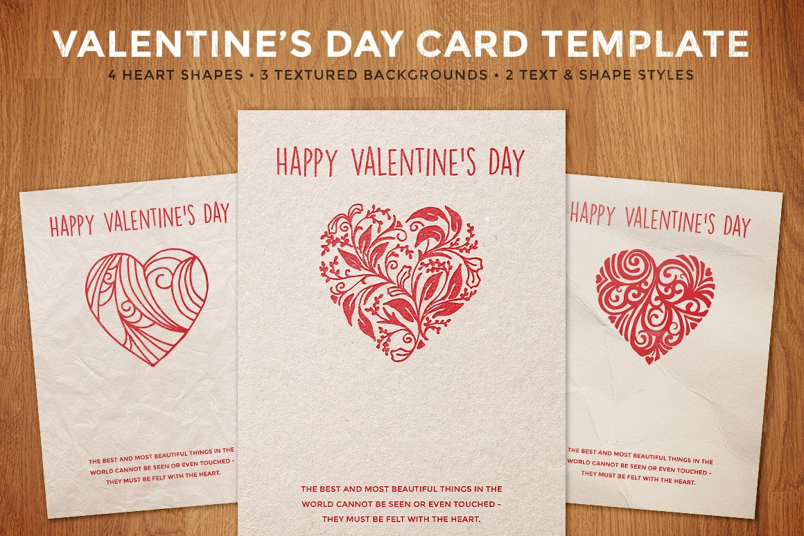 Simple valentines day card template card templates creative simple valentines day card template card templates creative market pronofoot35fo Image collections