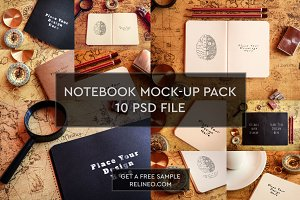 Paper Notebook 10 PSD Pack