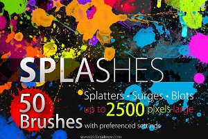 50 HQ SPLASHES Brush Set