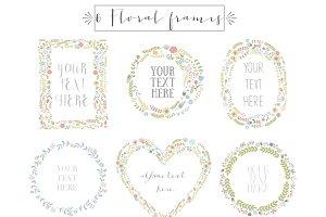 Floral frames clip art, vol.1