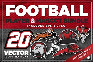 Football Player & Mascot Bundle