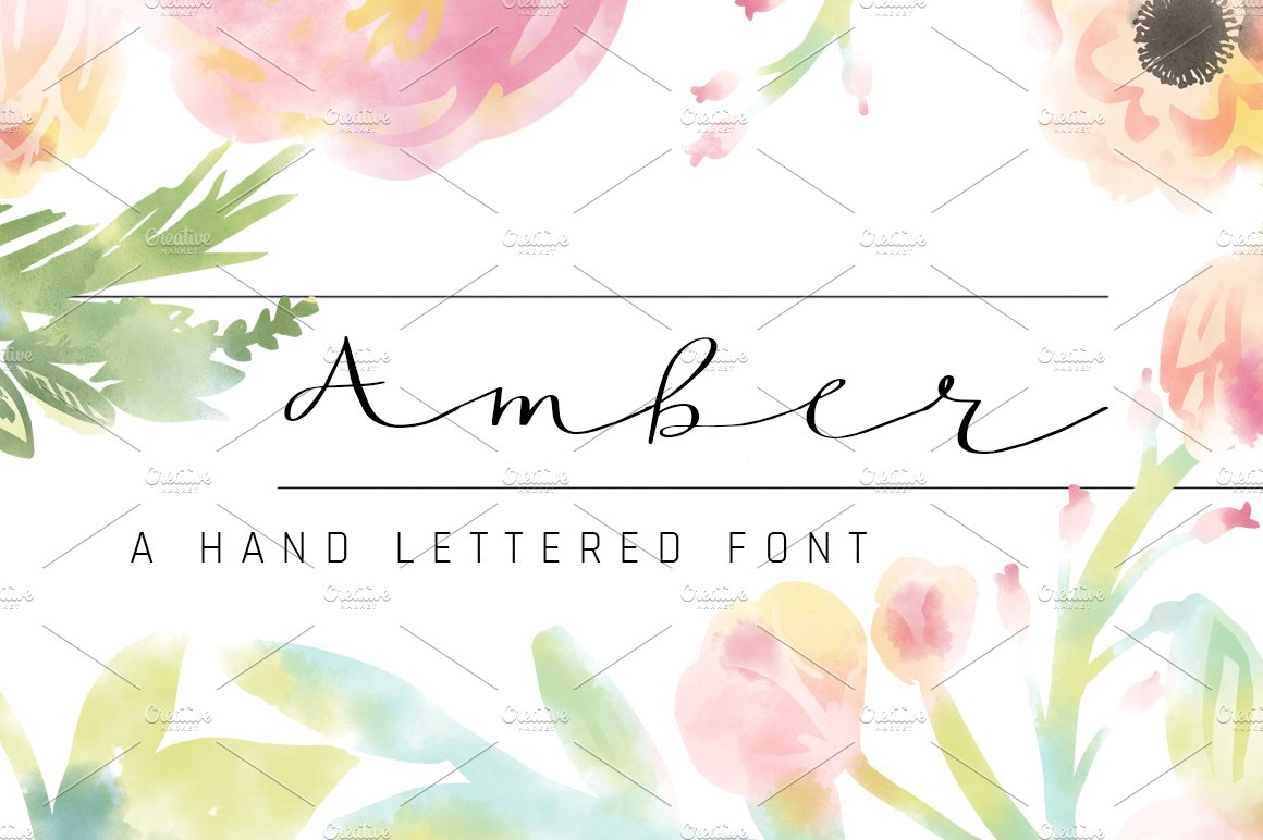 Amber script fonts creative market fandeluxe Image collections