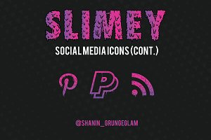 Slimey Social Media Icons