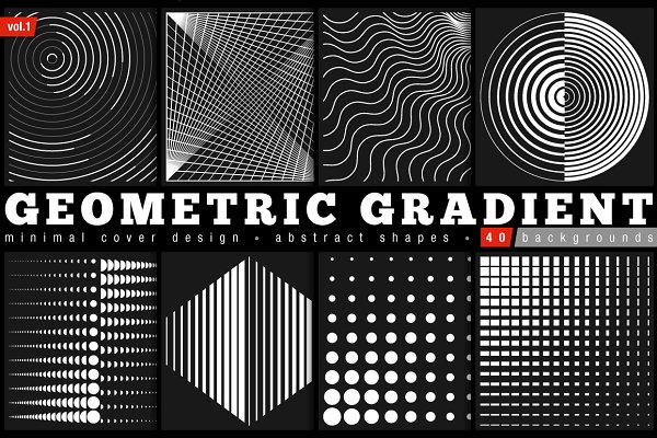 Geometric Gradient Shapes