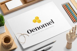 Oenomel logo template