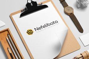 Nefelibata logo template