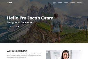 Ezna – Personal Portfolio Template