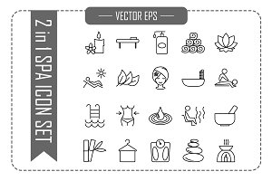 Vector Spa and Beauty Icon Set