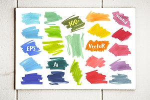 Vector Marker Banners Collection -2!