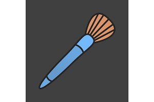 Makeup brush color icon