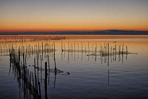 Sunset at Albufera lake, Valencia