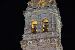 Belltower in Ontinyent city, Spain