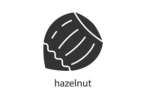 Hazelnut glyph icon