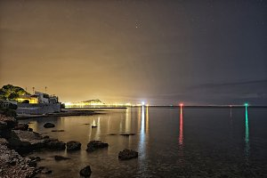 Denia Bay at night