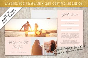 PSD Photo Gift Card Template #1