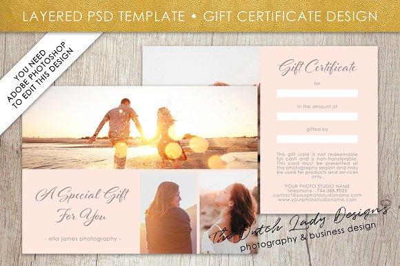 PSD Photo Gift Card Template #1 ~ Card Templates ~ Creative Market
