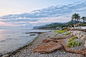 Denia shore in the morning