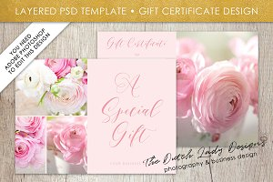 PSD Photo Gift Card Template #2
