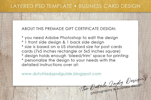 Psd photo gift card template 2 card templates creative market yadclub Image collections