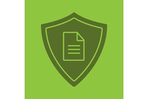 Personal document security glyph color icon