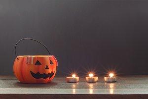 Happy Halloween decorations.