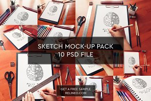 Sketch Mock-up 10 PSD Pack