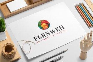 Fernweh logo template