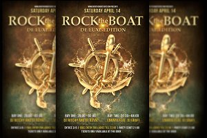 Rock The Boat Party Flyer