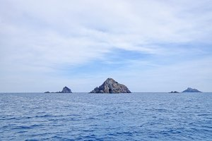 Columbrete Islands seen from the sea