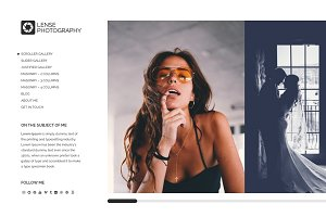 Lense - Minimal Photography Theme