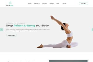 Handstand - Gym & Fitness Template