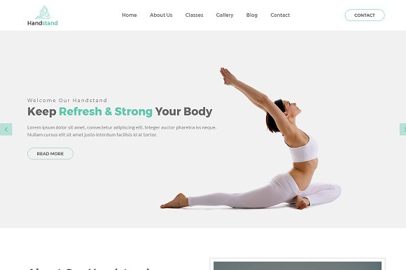 Handstand Gym Fitness Template