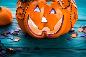 Halloween trick or treat still life