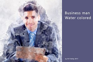 Business man - water colored