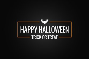 Halloween logo design background.